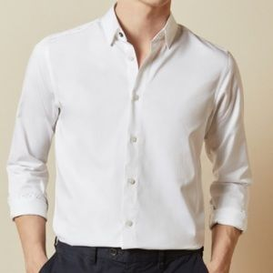 Ted Baker White Button Down Large